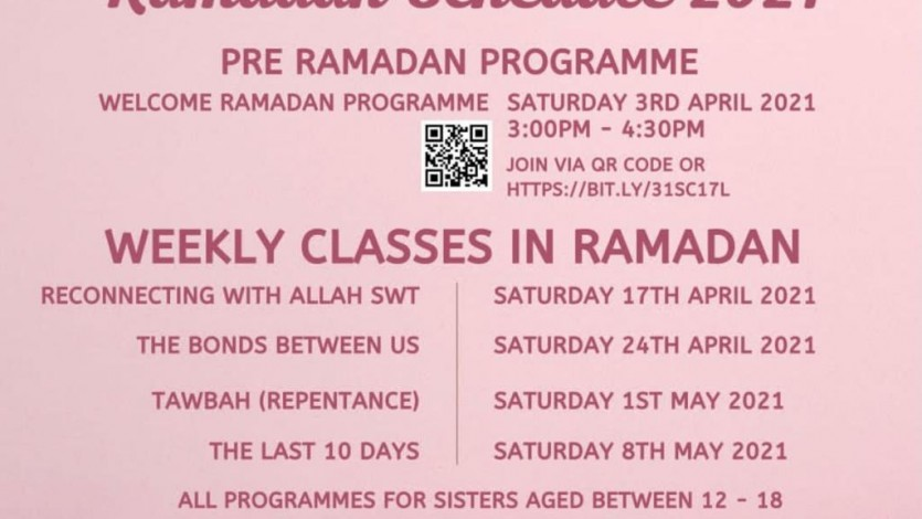 Welcome Ramadan Programme for Younger Girls